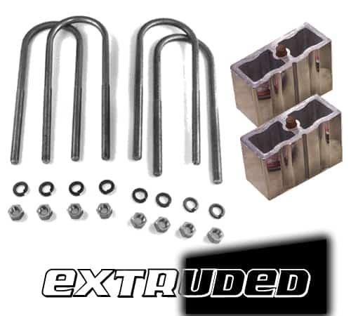 3″ Universal Lowering Block Kit with U-Bolts