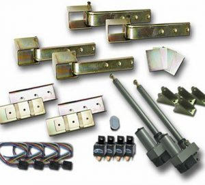 Universal 180 Automatic Hidden Suicide Door Hinge Kit (Includes Wireloom For Doors) (2 Door)