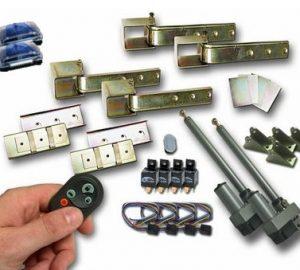 Universal 180 One Touch, Dual Hidden Suicide Door Hinge Kit w/ Remote (2 Door)