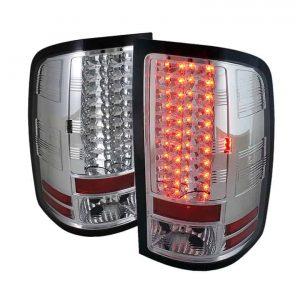 07-12 GMC Sierra Pickup Truck LED Tail Lights – Chrome
