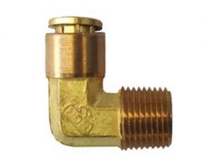 Elbow Male 1/2 (NPT) To 3/8 (Tube) Air Fitting