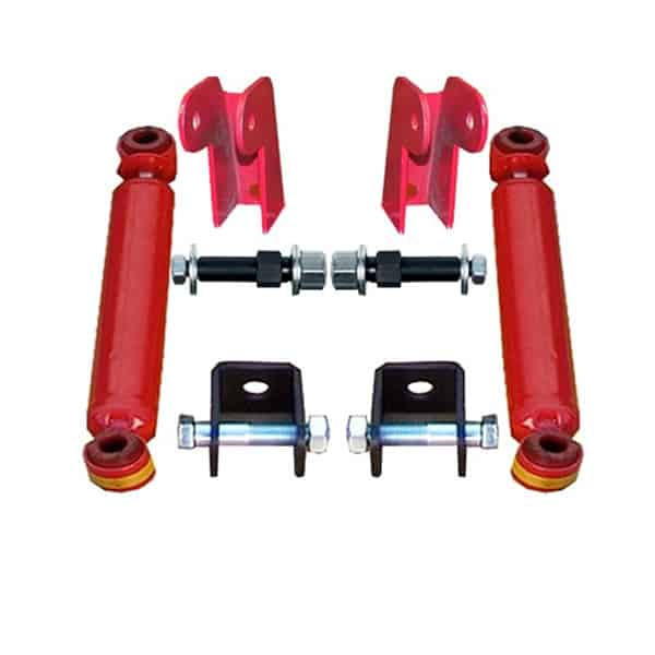 Universal Shock Relocation Kit, Weld or Bolt (w/Shocks) (2 Shock Kit)