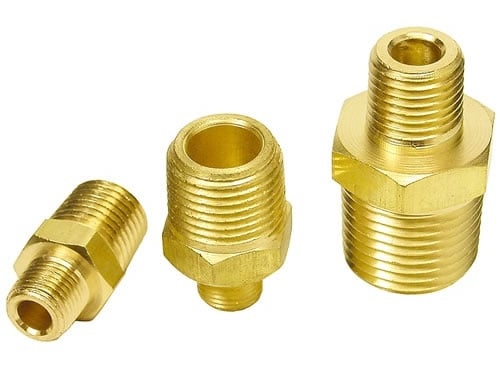 Straight Connector – 3/8″ NPT Male to 1/2″ NPT Male Air Fitting