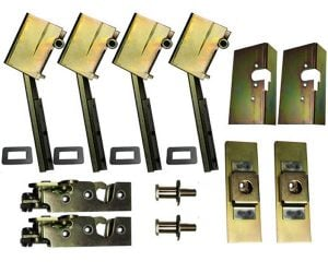 2  Door Individual Suicide Hidden Hinge System, Latch and Claw (Complete)