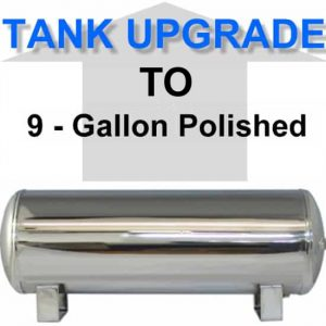9 Gallon Polished Stainless Steel Air Suspension Tank **UPGRADE**
