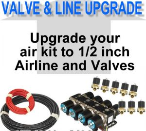 3/8″ Air Line and Valves to 1/2″ Air Line and Valves **UPGRADE**