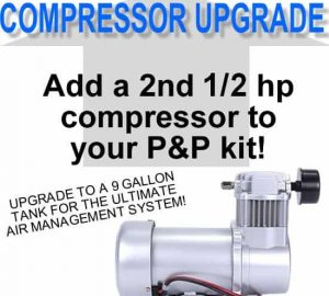 Add an Additional 1/2 hp DC7500 Compressor **UPGRADE**