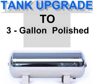 3 Gallon Polished Air Suspension Tank **UPGRADE**