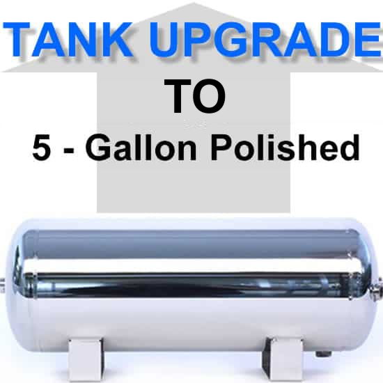 5 Gallon Polished Stainless Steel Air Suspension Tank **UPGRADE**