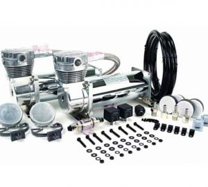 Dual 1/3HP Viair 480C Compressor Combo Kit (230psi) – Chrome