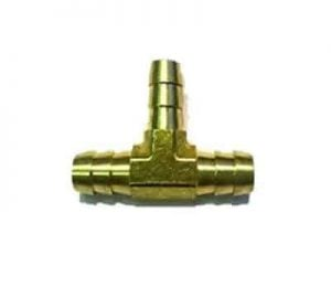 Brass 1/4″ x 1/4″ x 1/4″ Male Barbed Hose Push-On Tee Air Fitting