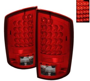 02-06 Dodge Ram 1500, 2500, 3500 LED Altezza Tail Lights - Red Clear