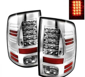09-14 Dodge Ram 1500/2500/3500 LED Tail Lights (Incandescent Model Only, Not Compatible With LED Model) - Chrome