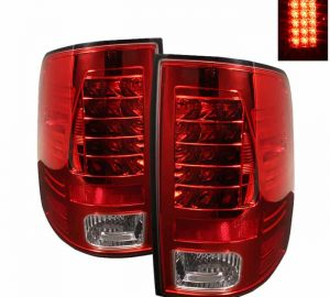 09-14 Dodge Ram 1500/2500/3500 LED Tail Lights (Incandescent Model Only, Not Compatible With LED Model) - Red Clear