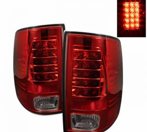 09-14 Dodge Ram 1500/2500/3500 LED Tail Lights (Incandescent Model Only, Not Compatible With LED Model) - Red Smoke