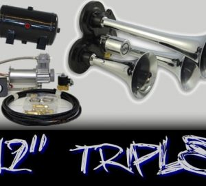 "12"" Quad Complete Train Truck Air Horn Kit"