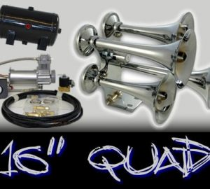"16"" Quad Complete Train Truck Air Horn Kit"