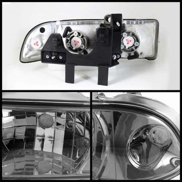 1998-2002 Chevy S-10 Crystal Headlights - Smoked