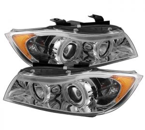 2006-2008 BMW E90 3-Series 4DR CCFL Projector Headlights with Amber Eyebrow (Replaceable Eyebrow Bulbs) - Chrome