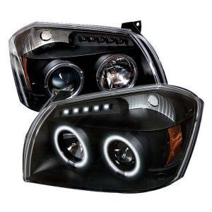 2005-2007 Dodge Magnum CCFL Halo Projector Headlights (Replaceable LED's) - Black