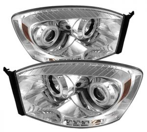 2006-2008 Dodge Ram CCFL Halo LED Projector Headlights (Replaceable LED's) - Chrome