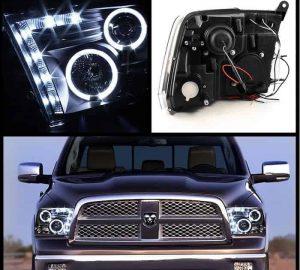 2009 2014 Dodge Ram 1500 2500 3500 Halo Led Projector Headlights