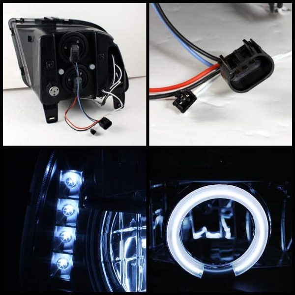 2005-2009 Ford Mustang CCFL Halo Projector Headlights (Halogen Model Only - Not Compatible With Xenon/HID Model) - Black