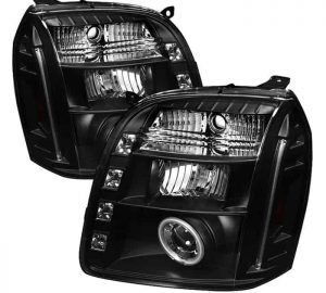 2007-2014 GMC Yukon, Denali, XL CCFL LED Projector Headlights (Replaceable LEDs) - Black