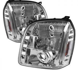 2007-2014 GMC Yukon, Denali, XL CCFL LED Projector Headlights (Replaceable LEDs) - Chrome