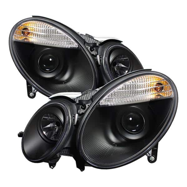 2003-2006 Mercedes Benz W211 E-Class (HID Type) Projector Headlights - Black