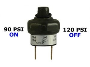"90psi-ON & 120psi-OFF Air Pressure Switch - 1/4"" NPT"