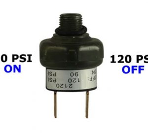 """90psi-ON & 120psi-OFF Air Pressure Switch - 1/4"""" NPT"""