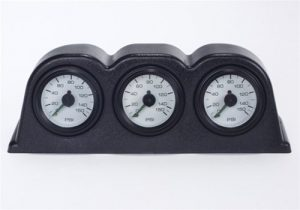 3 Gauge Pod with 3 - 2 Zone Air Gauges (Dash Mount)