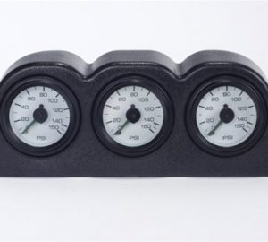 3 Gauge Pod with 3 - 2 Zone Air Gauges (Dash Mount)