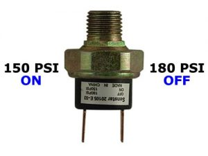 "150psi-ON & 180psi-OFF Air Pressure Switch - 1/4"" NPT"