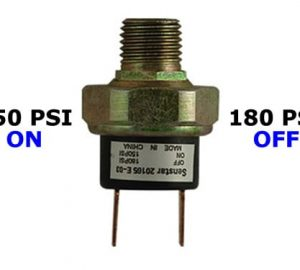 """150psi-ON & 180psi-OFF Air Pressure Switch - 1/4"""" NPT"""