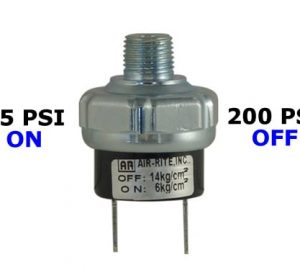 85psi-ON & 200psi-OFF Air Pressure Switch - 1/4