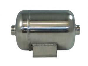 1/2 Gallon, 2 Port Polished Billet Air Tank (8