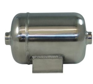 "1/2 Gallon, 2 Port Polished Billet Air Tank (8"" X 5"")"