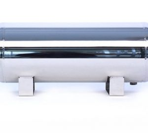 "5 Gallon, 5 Port Polished Stainless Steel Air Tank (32"" X 8.5"")"