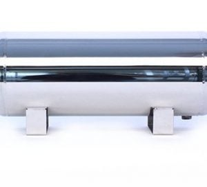 "3 Gallon, 5 Port Polished Stainless Steel Air Tank (18"" X 8.4"")"