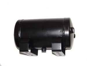1 Gallon, 4 Port Steel Black Air Tank (11