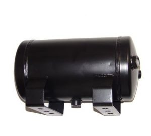 "1 Gallon, 4 Port Steel Black Air Tank (11"" X 6"")"
