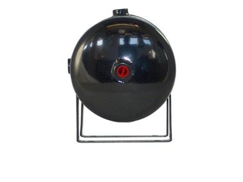 "1 Gallon, 4 Port Steel Black Air Tank (11"" X 6"")"