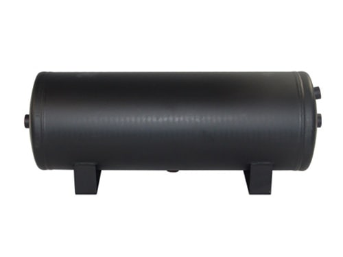 "3 Gallon, 4 Port Steel Black Air Tank (19"" X 8"")"