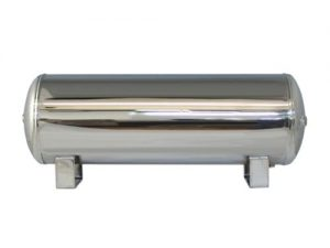 "9 Gallon, 4 Port Chrome Air Tank (31"" X 10"")"