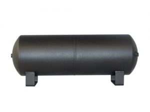 "9 Gallon, 4 Port Steel Black Air Tank (30"" X 8"")"