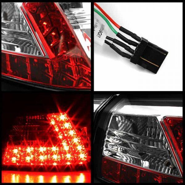 08-10 Mitsubishi Lancer/Evo LED Tail Lights - Black