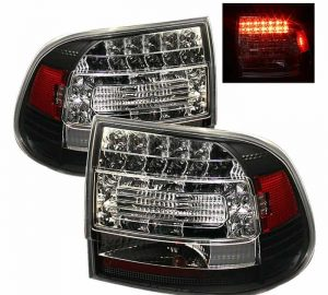 03-07 Porsche Cayenne LED Tail Lights - Black