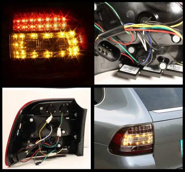 03-07 Porsche Cayenne LED Tail Lights - Black